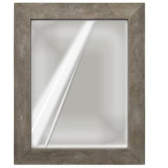Grey Wall Mirror Artistic scagliola  Ecological Shagreen Decoration Frame