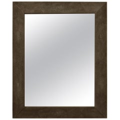 Wall Mirror Artistic Moonstone Brown Ecological Shagreen Decoration