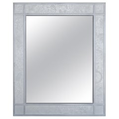 Wall Mirror Artistic Pattern Scagliola Decoration with a Light Bas-Relief