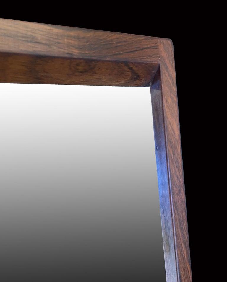 Scandinavian Modern Wall Mirror by Aksel Kjersgaard for Odder Mobler For Sale