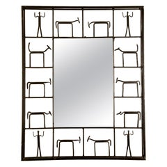 Wall Mirror by Frederick Weinberg, circa 1950s, Made in USA