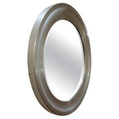 Wall Mirror by Sergio Mazza for Artemide Mid Century Aluminum, Italy, 1960s