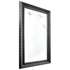 Wall Mirror Classic Rectangular Black Italian Limited Edition Design