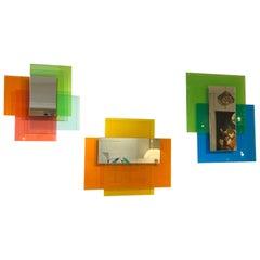 Wall Mirror, 'Colour on Colour' Series by Johanna Grawunder for Glas Italia