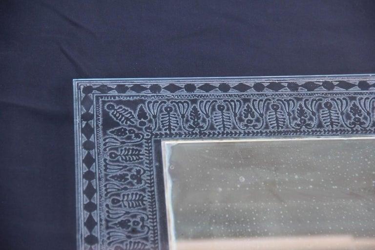 Wall Mirror Cristal Art Midcentury Modern Italian Design Corroded Acid For Sale 6