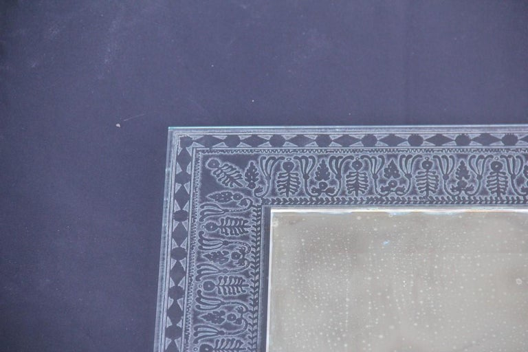 Wall Mirror Cristal Art Midcentury Modern Italian Design Corroded Acid For Sale 7