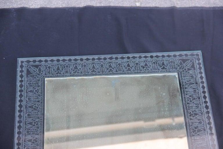Wall Mirror Cristal Art Midcentury Modern Italian Design Corroded Acid For Sale 8
