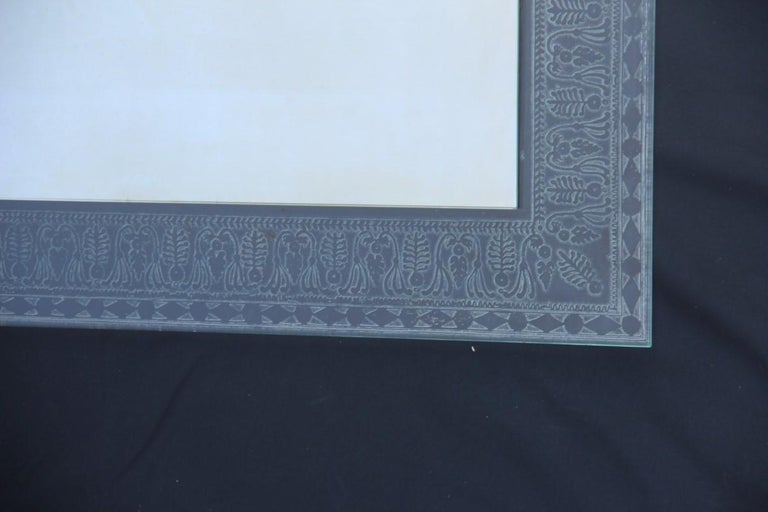 Wall Mirror Cristal Art Midcentury Modern Italian Design Corroded Acid For Sale 9