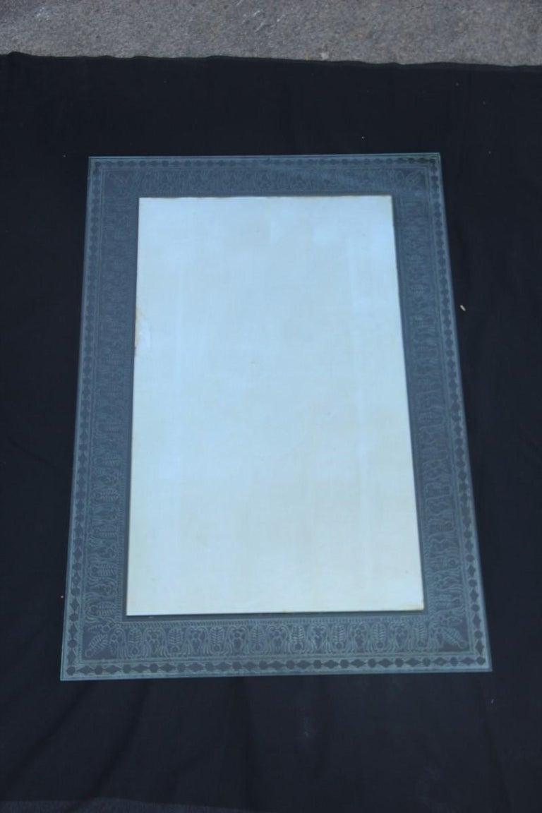 Wall Mirror Cristal Art Midcentury Modern Italian Design Corroded Acid For Sale 10