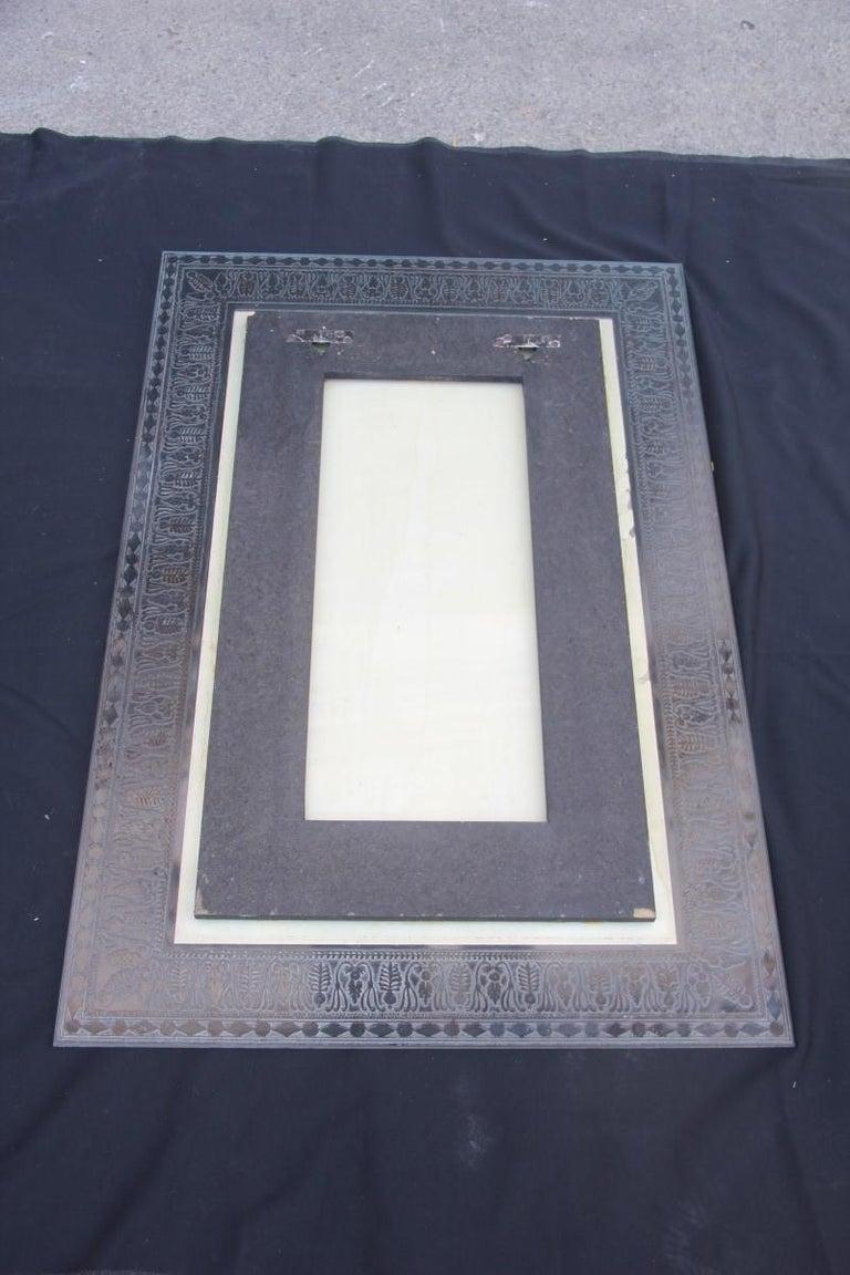 Wall Mirror Cristal Art Midcentury Modern Italian Design Corroded Acid For Sale 11