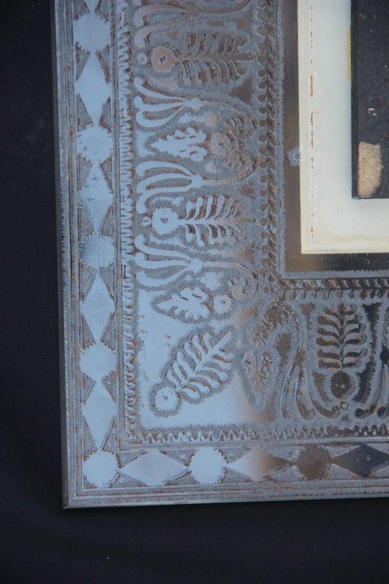Wall Mirror Cristal Art Midcentury Modern Italian Design Corroded Acid For Sale 12