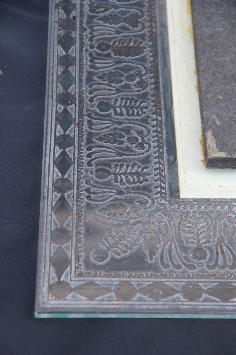 Wall Mirror Cristal Art Midcentury Modern Italian Design Corroded Acid For Sale 13