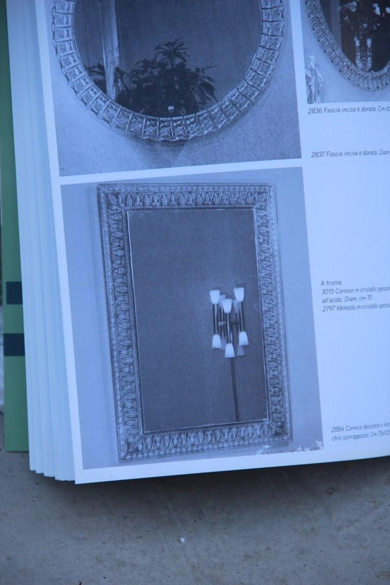 Mid-Century Modern Wall Mirror Cristal Art Midcentury Modern Italian Design Corroded Acid For Sale