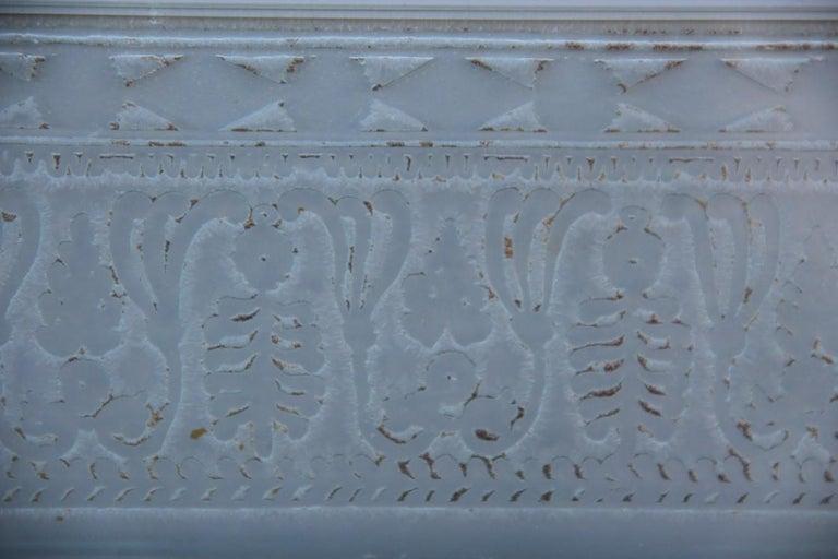 Wall Mirror Cristal Art Midcentury Modern Italian Design Corroded Acid For Sale 1