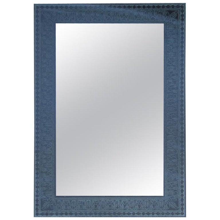 Wall Mirror Cristal Art Midcentury Modern Italian Design Corroded Acid For Sale