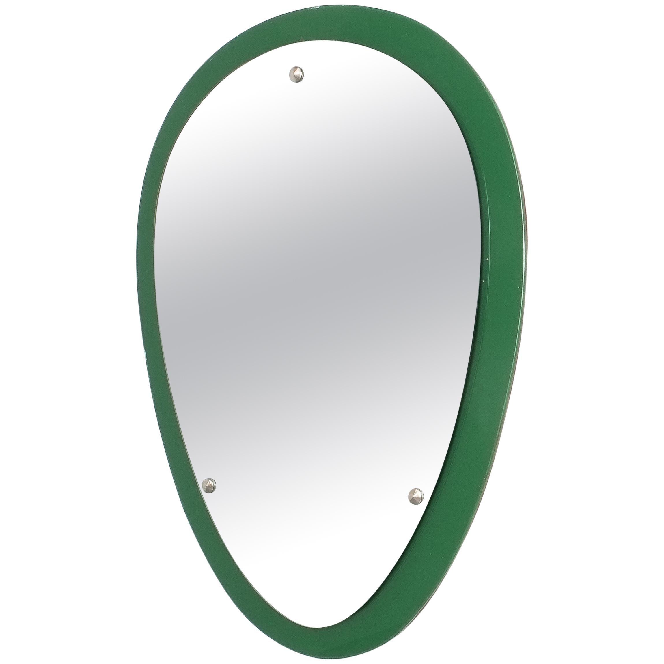 Wall Mirror Glass, Midcentury Italy