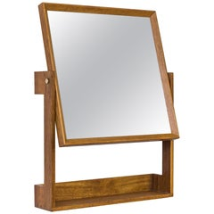 Wall Mirror in Oak by Glas & Trä, Sweden, 1950s