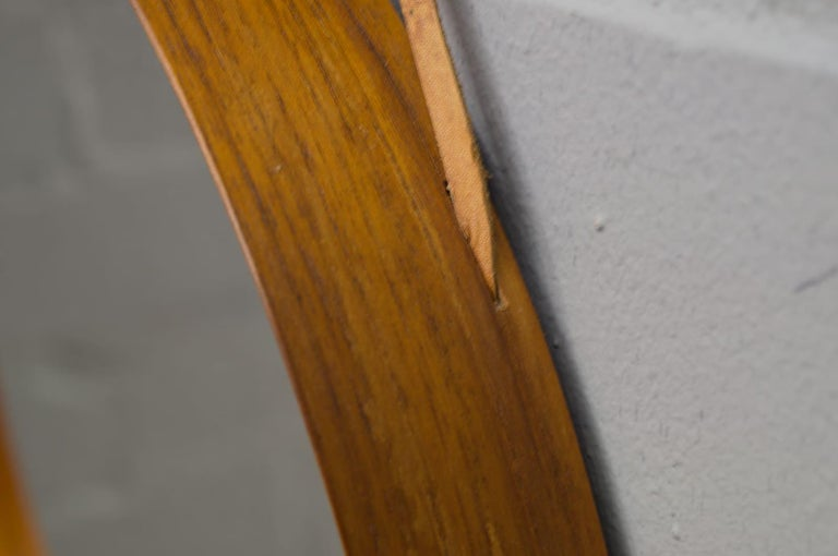 Wall Mirror in Teak Produced by Glass Mäster in Markaryd, Sweden 1960s For Sale 1