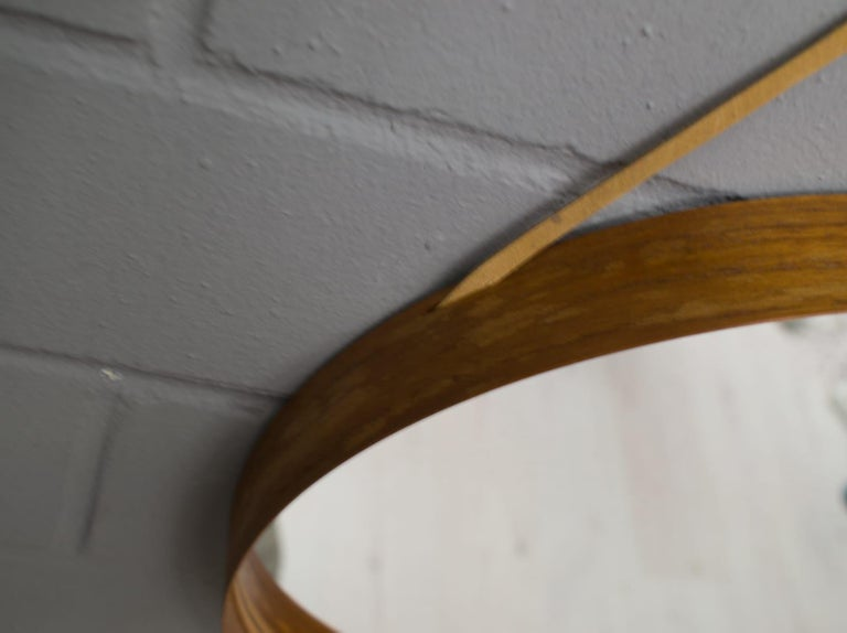 Wall Mirror in Teak Produced by Glass Mäster in Markaryd, Sweden 1960s For Sale 4