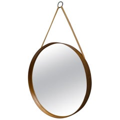 Wall Mirror in Teak Produced by Glass Mäster in Markaryd, Sweden 1960s