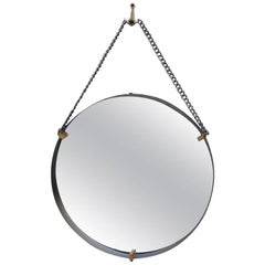 Wall Mirror Santambrogi & De Berti 1950s Italian Design Mid-century Modern Brass