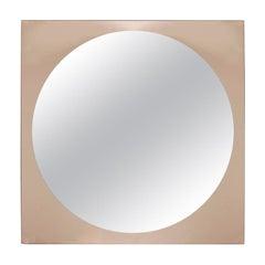 Wall Mirror, Smoked Glass, Italy, 1970