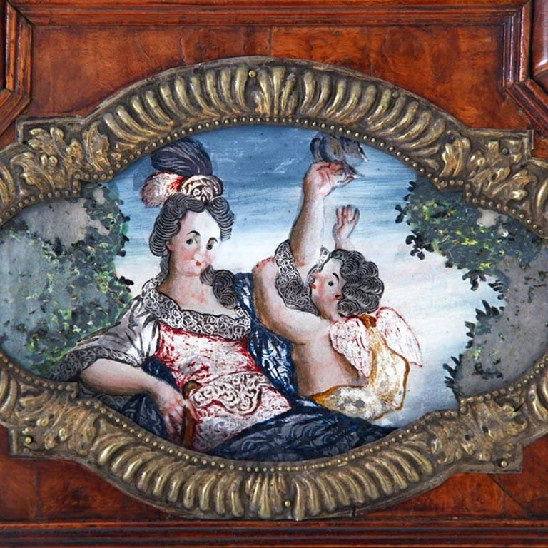 Baroque Wall Mirror, Southern Germany, Early 18th Century For Sale