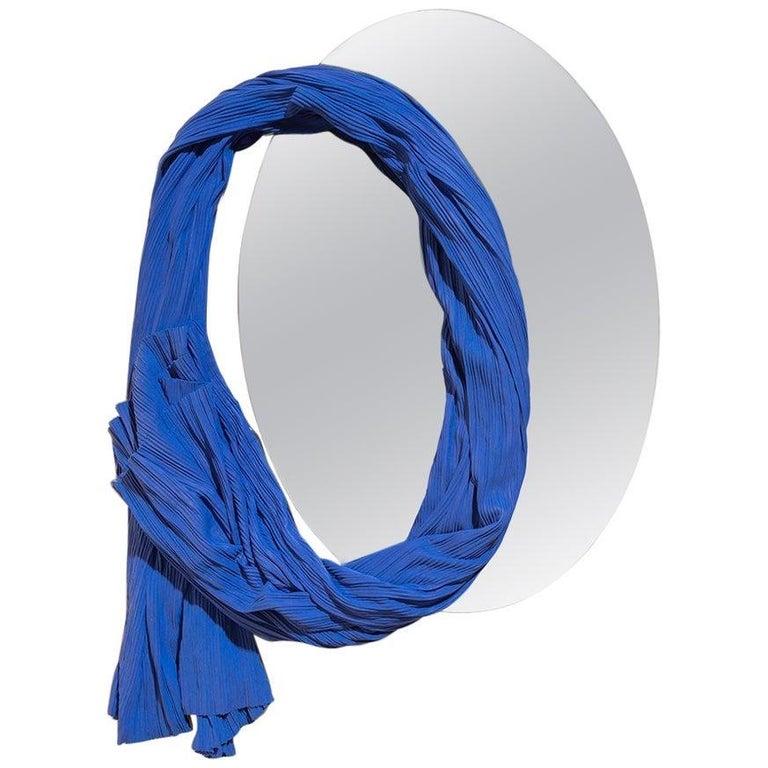 Wall Mirror Tertium Quid S3, 01 Porcelain Blue For Sale
