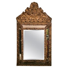 Napoleon III  French  Brass Wall Mirror 1852