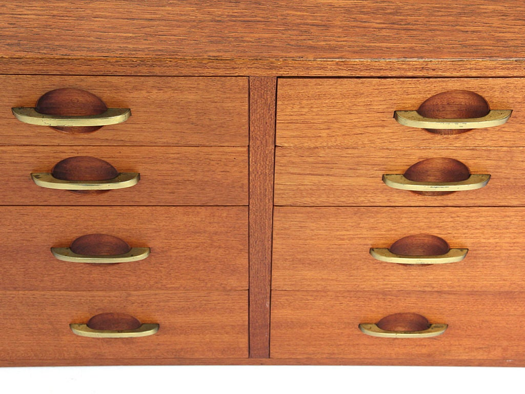 Mid 20th Century Wall Mount Cabinets By Hans Wegner For Johannes Hansen For  Sale