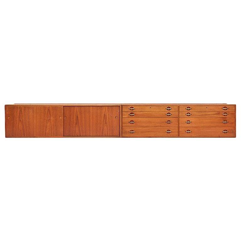 Wall Mount Cabinets by Hans Wegner for Johannes Hansen For Sale