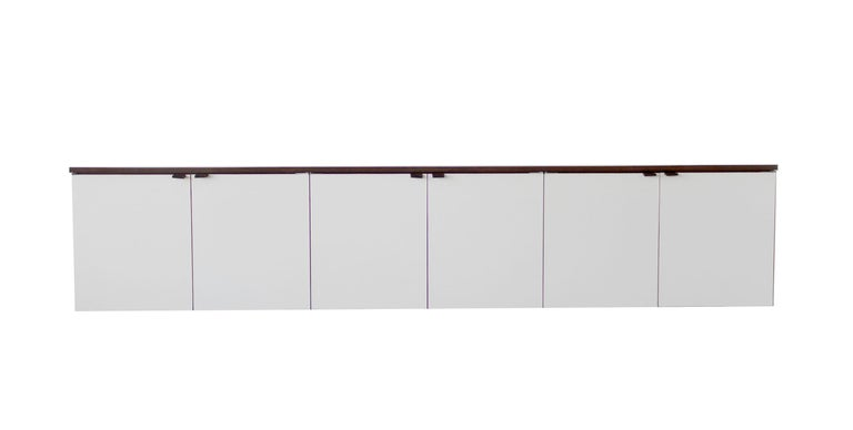 American Wall Mount Credenza after Florence Knoll Mid-Century Modern, 1960s For Sale