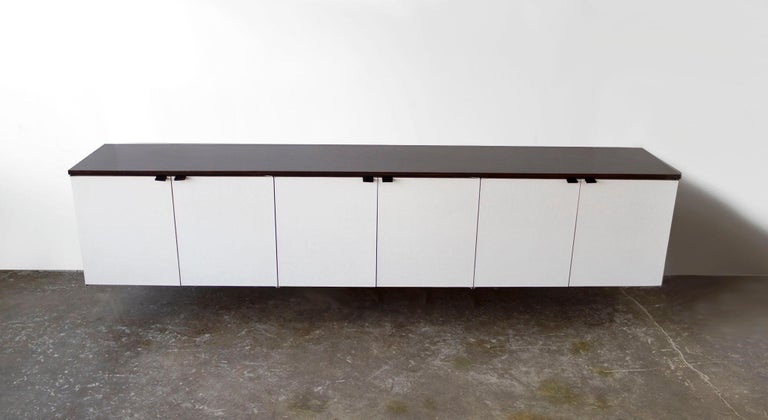 Wall Mount Credenza after Florence Knoll Mid-Century Modern, 1960s In Good Condition For Sale In Dallas, TX