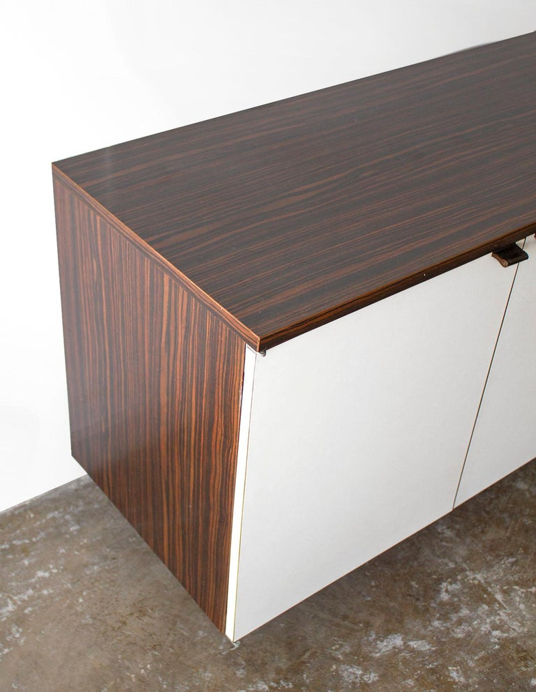 20th Century Wall Mount Credenza after Florence Knoll Mid-Century Modern, 1960s For Sale