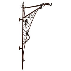 Wall Mountable Carriage Lantern Hook with Handle and Lever for Easy Access 1890s