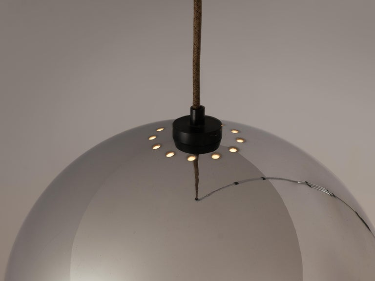 Post-Modern Wall-Mounted Adjustable Pendant Lamp in Metal For Sale