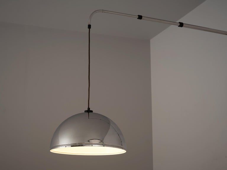 European Wall-Mounted Adjustable Pendant Lamp in Metal For Sale