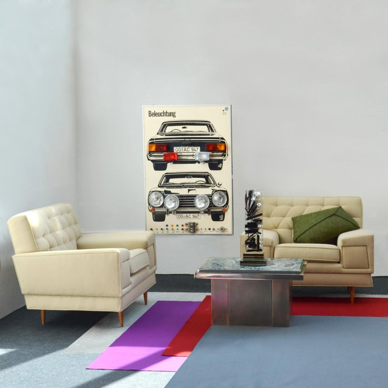 Wall Mounted Artwork with Car Lights Demonstrating Driving Instructions In Good Condition For Sale In London, GB