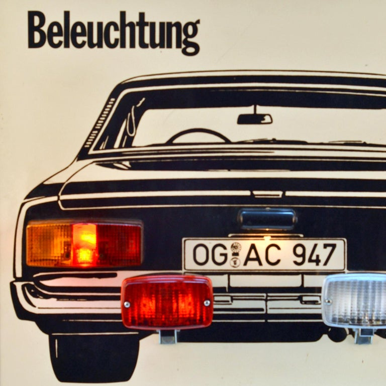 Late 20th Century Wall Mounted Artwork with Car Lights Demonstrating Driving Instructions For Sale