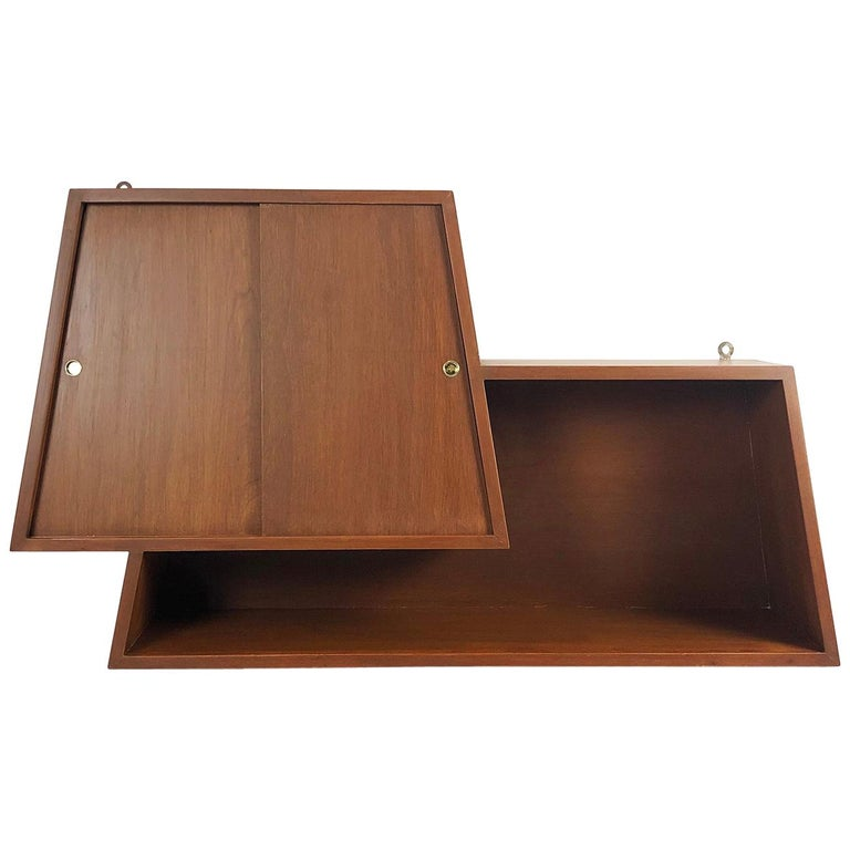 Wall-Mounted Bar Cabinet Designed by Eugenio Escudero For Sale