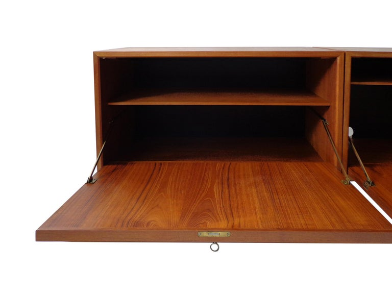 Mid-20th Century Wall-Mounted Cabinet in Teak by Poul Cadovius Danish, 1960s For Sale