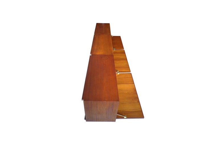 Wall-Mounted Cabinet in Teak by Poul Cadovius Danish, 1960s For Sale 1