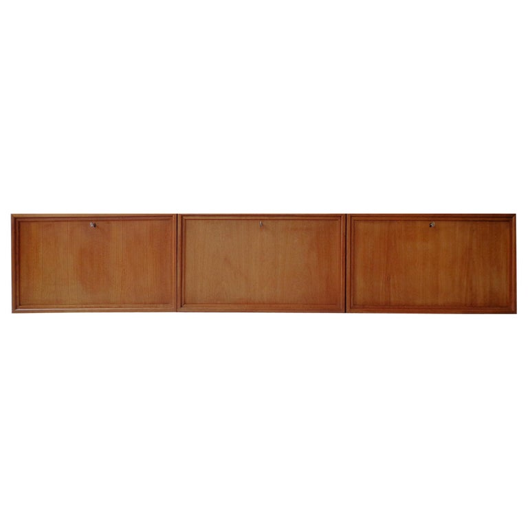Wall-Mounted Cabinet in Teak by Poul Cadovius Danish, 1960s For Sale