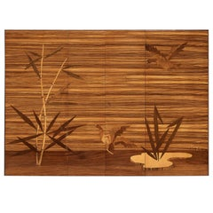 Wall-Mounted Cabinet with Figurative Marquetry Doors