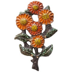 Wall Mounted Flower Decoration by Perignem Belgium
