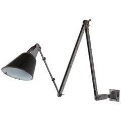 Wall-Mounted Industrial Lamp by Walligraph, circa 1930s