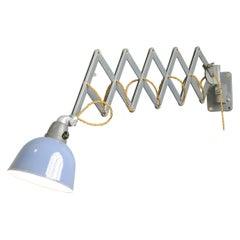 Wall Mounted Industrial Scissor Lamp by Siemens
