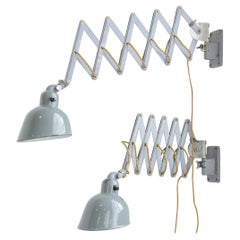Wall Mounted Industrial Scissor Lamps by Siemens