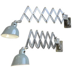 Wall-Mounted Industrial Scissor Lamps by Siemens