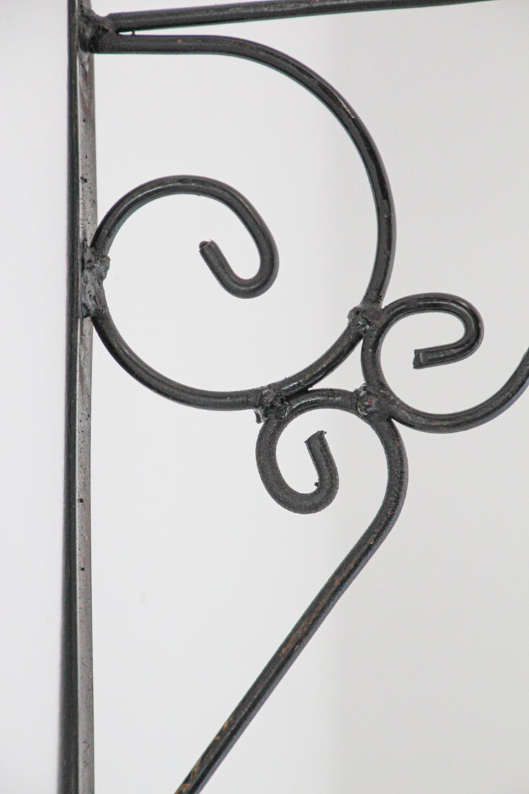 Wall Mounted Iron Bracket for Lanterns or Signs For Sale 2
